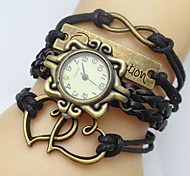 Women's Watch Flower Dial Heart Infinity Leather Weave Band Cool Watches Unique Watches Fashion Watch