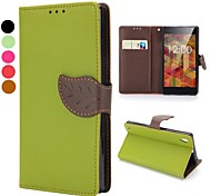 Magnetic Buckle Design Wallet Style Flip Stand TPU and PU Leather Case for Sony L39h Xperia Z1(Assorted Colors)