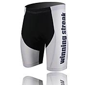 xintown Unisexe les tergal coussin cyclistes de haute qualité short noir + blanc