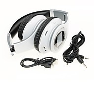 ld-808 fone de ouvido 3,5 milímetros usb sobre a orelha oi-fi com cartão de tf apoio microfone mp3 tela LCD para telefones