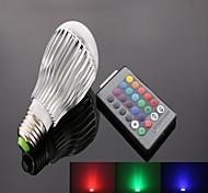 10W E26/E27 Focos LED A50 9 LED de Alta Potencia 950 lm RGB Control Remoto AC 85-265 V