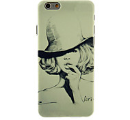 The Hat Girl Pattern PC Hard Back Cover for iPhone 6