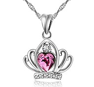 I FREE®S925 Sterling Silver Inlaid Austrian Crystal And Zircon Pendant (1 pc)