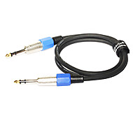 1M 3.28FT TRS 6.35mm Audio Male to TRS 6.35mm Audio Male Aux Audio Balanced Cable for Microphone Free Shipping