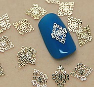 200PCS Golden Vintage Royal Metal Slice Nail Art Decoration