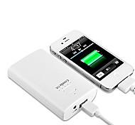 blanco batería externa lindo cenda m60 6600mah para dispositivos móviles