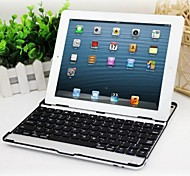 ultra-mince en alliage d'aluminium clavier bluetooth sans fil pour iPad 4/3/2 (couleurs assorties)