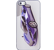 Azul Racing Car Patrón Hard Case de aluminio para el iPhone 4/4S