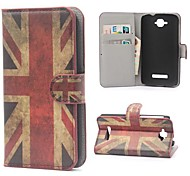 UK Flag Pattern PU Leather with Stand and Card Slot Case Cover for Alcatel One Touch Pop C7