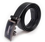 Hebilla/Cinturón (Negro , Cuero) - Hombre