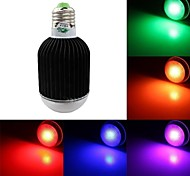 RGB Light LED Bulb With Remote Control - Black Silver (Rated Voltage)AC85-265V 700lm 9W E27