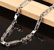 Z&X®  Men's Fashion  Personality Very Long  CrossBones Titanium Steel Necklaces
