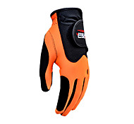 PGM Men's Left Hand Synthetic Leather+Lycra Orange Breathable Magic Golf Gloves-1 Piece