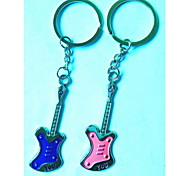 (2 PC) Beautiful Fashion Guitar LOVE YOU Lovers of High-Grade Stainless Stee Keychain
