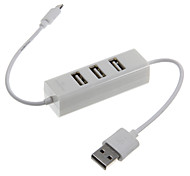 High Speed 3 Ports USB 2.0 HUB Adapter with Lightning Connector