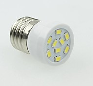 E27 3W 9LED 5730smd 180-240lm 6000-7500k AC220-240V relieve blanco - plata blanca