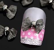 10pcs   Black Bow Tie For Finger Tips  Accessories Nail Art Decoration