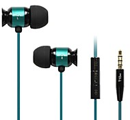 3.5mm enchufe de auriculares in-ear con micrófono& control de volumen para el iphone y Samsung y otros (colores surtidos)
