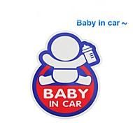 aviso de segurança auto para o bebê na personalidade etiqueta do carro