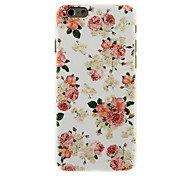 Rose Blossoming Pattern PC Hard Back Cover for iPhone 6