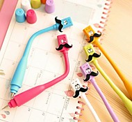 Cube Mustache Design Flexible Blue Ink Ballpoint Pen(Random Color)