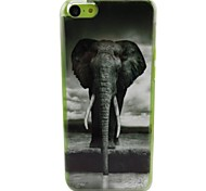 Cute Elephant Pattern PC Back Case for iPhone 5C