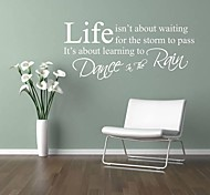 Wall Stickers Life Quotes Dance in the Rain Home Decoration JiuBai™ Wall Decal