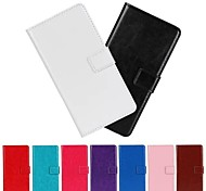Horse Grain PU Leather Full Body Case with Stand And Card Slot for Nokia Lumia N625