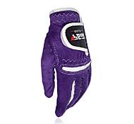 PGM Women's Microfiber Cloth Purple 1 Pair Breathable Full Finger Sports Golf Gloves
