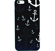 Night Anchors Pattern Hard Case for iPhone 4/4S