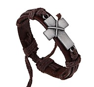 The New Cross Leather Bracelet