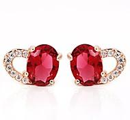 Love Is You Luxurious Big Zircon Inlaid Rare Earth Glass Earrings