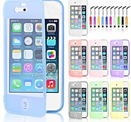 Screen Touch TPU Case & Touch Pen for iPhone 4/4S (Assorted Colors)