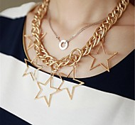Fashion Stars Charm Chain Choker Necklaces & Pendants for Women 2014 New