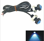 Carking™ 12V 1.5W 18MM Auto Car Eagle Eye Blue Rear LED Light Day Time Running Lamp-Blue Lens