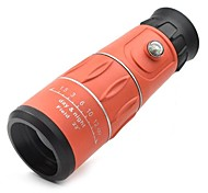 16x52 Portable Orange Monocular Telescope Attached Compass