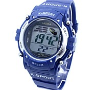 Men's Sporty  Digital Silicone Band Wrist Watch
