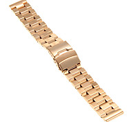 20mm High Quality Rose Gold Precise Stainless Steel Watchband
