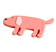Plastic Cartoon Pink Pig Shaped Cable Winder