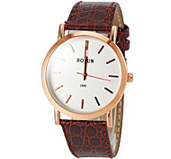 Women's Elegant Round Dial PU Band Quartz Wrist Watch (Assorted Colors) Cool Watches Unique Watches