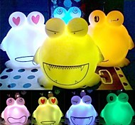 Cute BIg Eyes Frog Plastic Night Light (Random Color x1pcs)