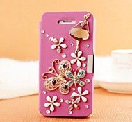 Hand Made Flower Diamond Leather Full Body Case with Magnetic Snap for SAMSUNG GALAXY S3 I9300(Assorted Colors)