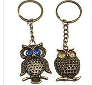 Owl Bronze Alloy Keychain (Blue,Brown)(1 Pc)