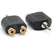 3.5mm macho a 2 RCA adaptador audio femenino