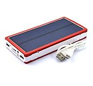 5000mah solar banco de la energía de batería externa para iphone4s / 5/5 s / ipad / samsungs3 / s4 / s5 / dispositivos móviles