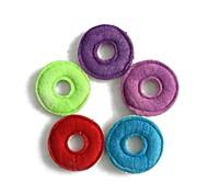 acariciar molares no tóxicos naturales loofah donas juguetes (color al azar)