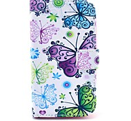 Colorful Butterfly Pattern PU Leather Cover Case with Stand for Samsung Galaxy Win I8552