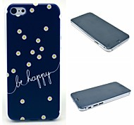 Be Happy Daisy Flower Pattern Hard Cover for iPhone 6