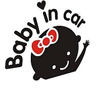 """""""Bebé en el coche"""" chicas encantadoras del bebé del coche palo."""