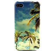 Coconut tree Pattern TPU Soft Case for iPhone 4/4S